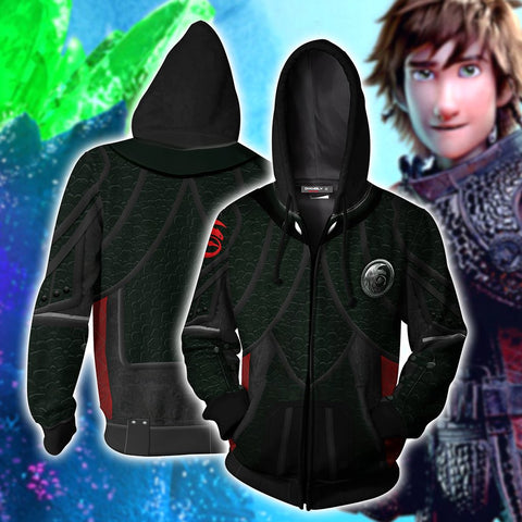 Image of How To Train Your Dragon 3 Hiccup Cosplay Zip Up Hoodie