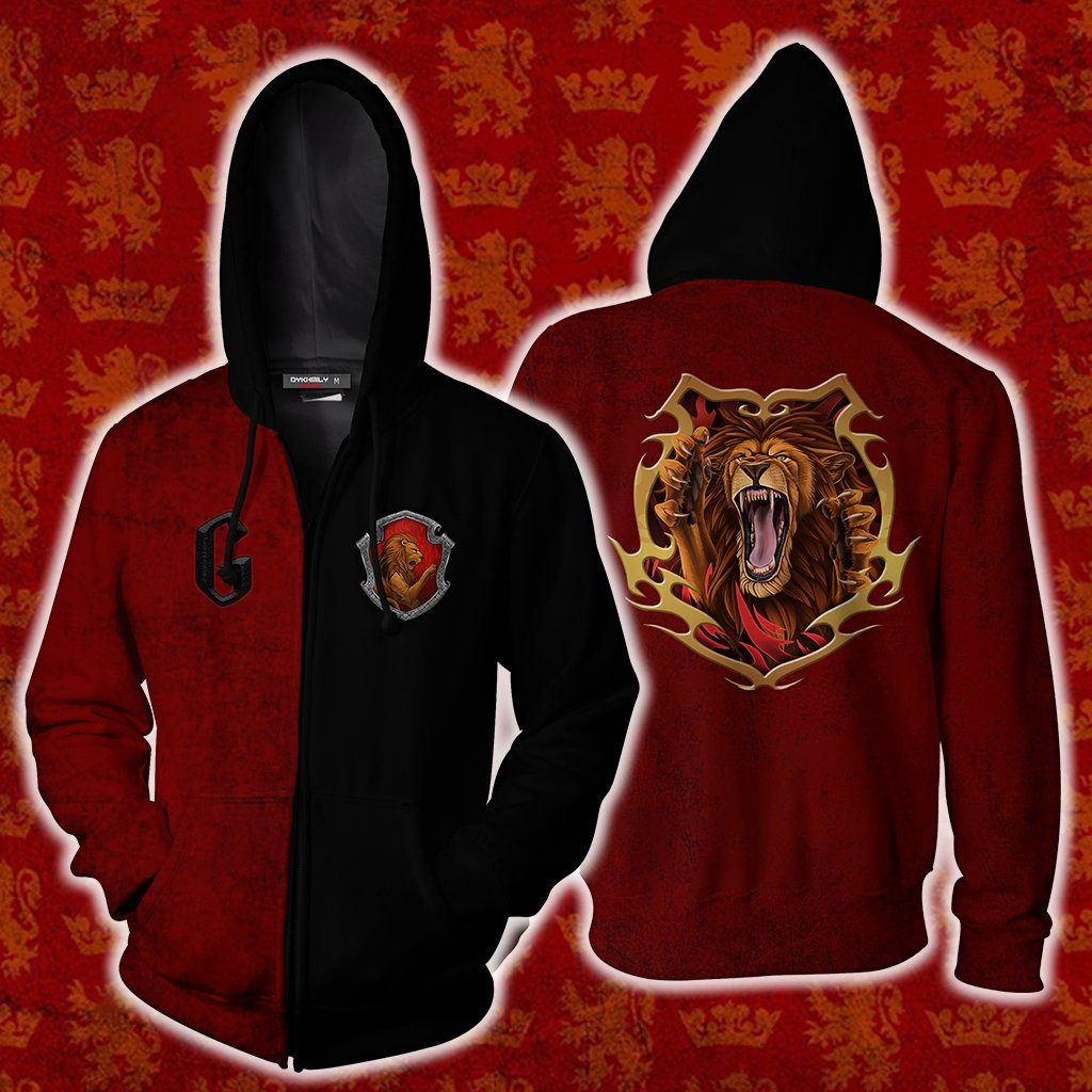 A Gryffindor Would Die For You Harry Potter Zip Up Hoodie