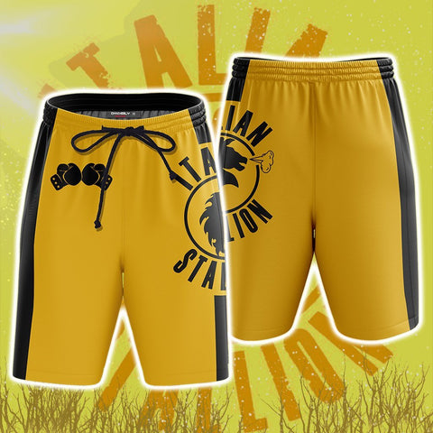 Image of Rocky Balboa Italian Stallion Logo Beach Shorts