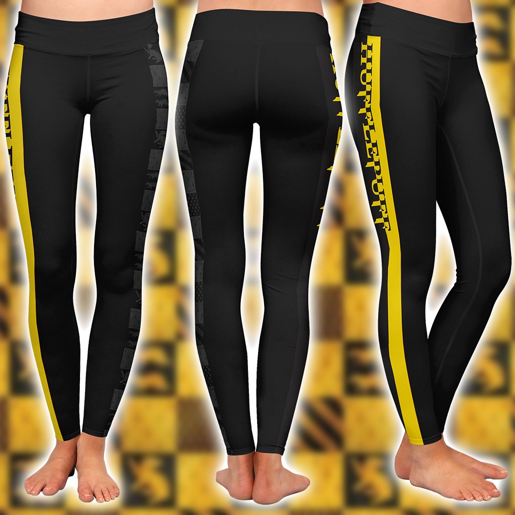 Hufflepuff House Harry Potter Simple Style 3D Leggings