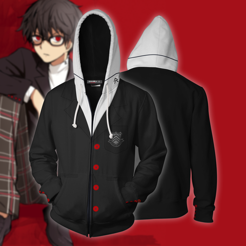 Persona 5 Akira Kurusu Cosplay Zip Up Hoodie Jacket