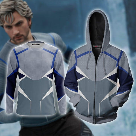 Image of Quicksilver (Pietro Maximoff) Cosplay Zip Up Hoodie Jacket