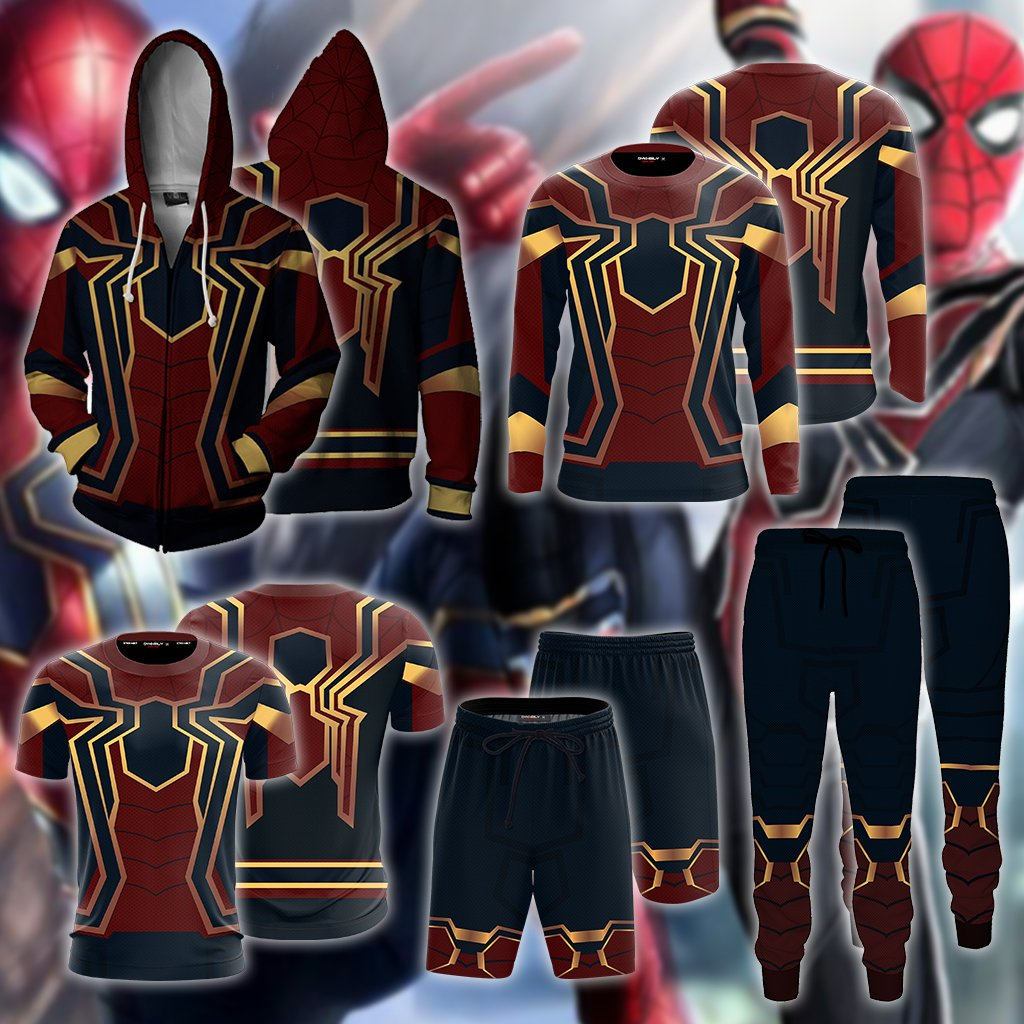 Spider-man: Homecoming Iron Spider Cosplay 3D Long Sleeve Shirt