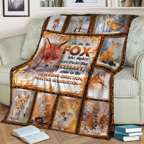 Image of Be Like The Fox 3D Throw Blanket