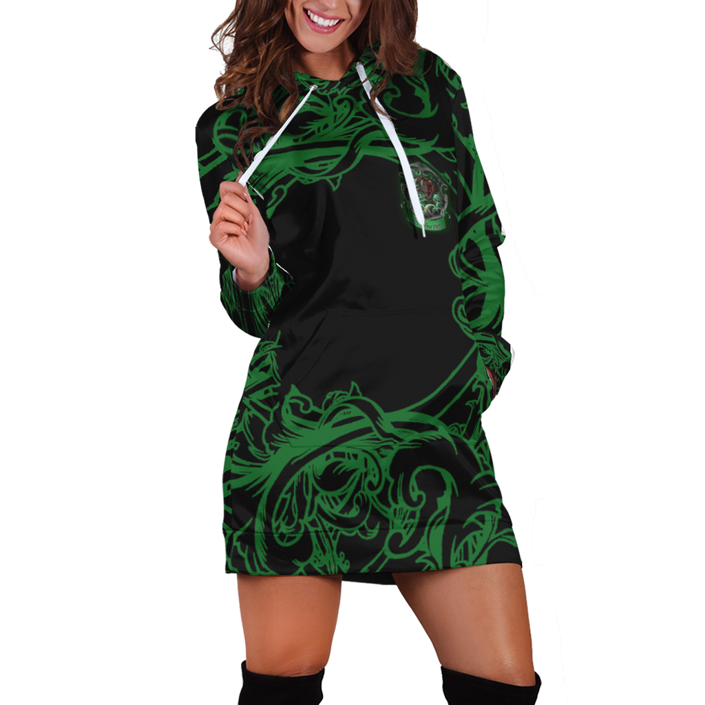 Cunning Like A Slytherin Harry Potter 3D Hoodie Dress