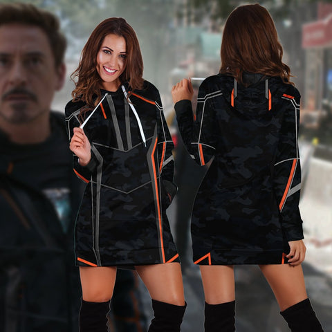 Image of Iron Man (Tony Stark) Cosplay 3D Hoodie Dress