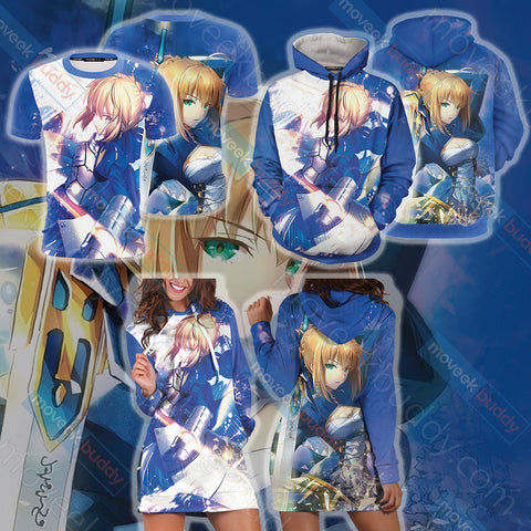 Fate/ Stay Night - Saber 3D Hoodie Dress