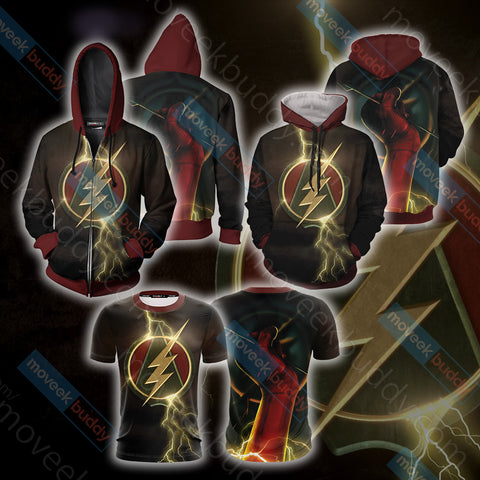 Image of Arrow and Flash Unisex Zip Up Hoodie Jacket