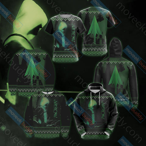 Image of Arrow Knitting Style Unisex 3D Sweater