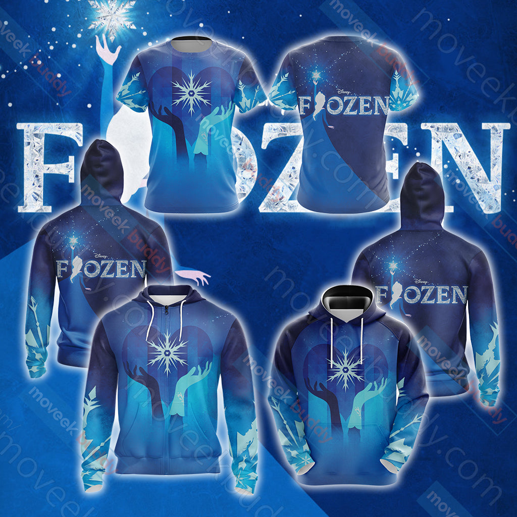 Frozen 2 2019 Unisex Zip Up Hoodie Jacket