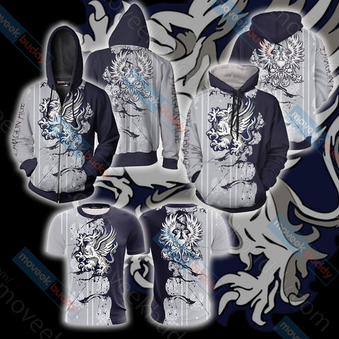 Image of Dragon Age - Grey Warden symbol Unisex Zip Up Hoodie Jacket