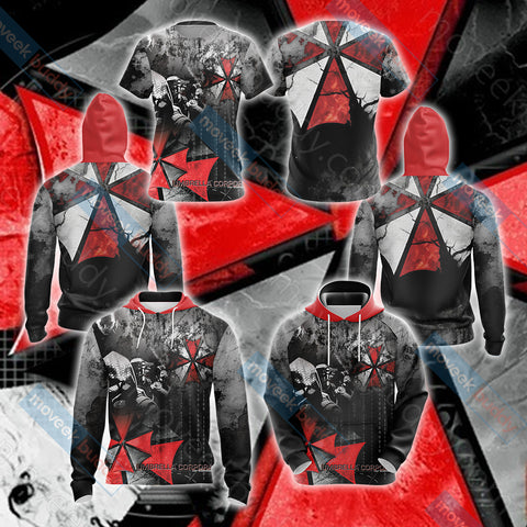 Image of Resident Evil Umbrella Corp Unisex 3D T-shirt