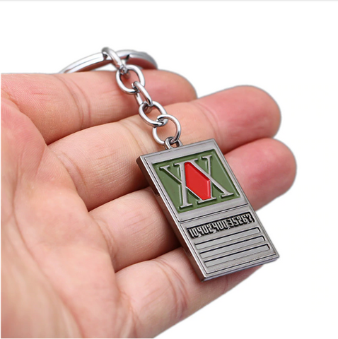 Image of Hunter x Hunter Keychain Gon Freecss License Pendant Key Ring Holder