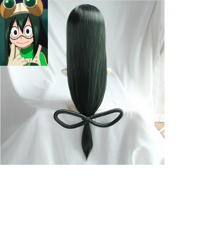 Image of My Hero Academia Tsuyu Asui Cosplay Long Straight  Synthetic Hair