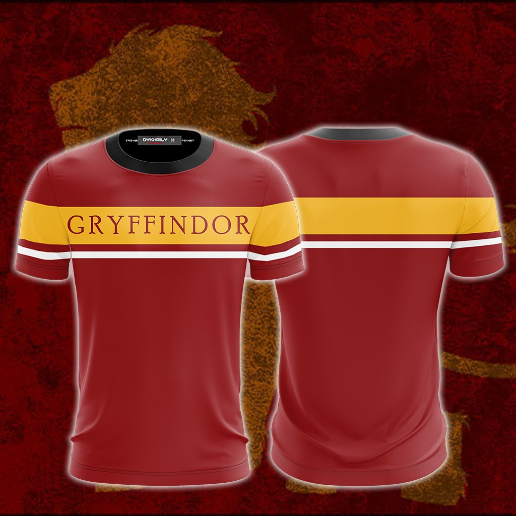 Hogwarts House Gryffindor Harry Potter Unisex 3D T-shirt