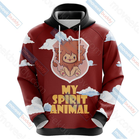Image of Harry Potter - Gryffindor House Lion My Spirit Animal Unisex 3D Hoodie