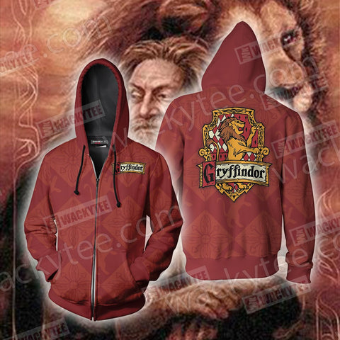 Harry Potter - Brave Like A Gryffindor Zip Up Hoodie