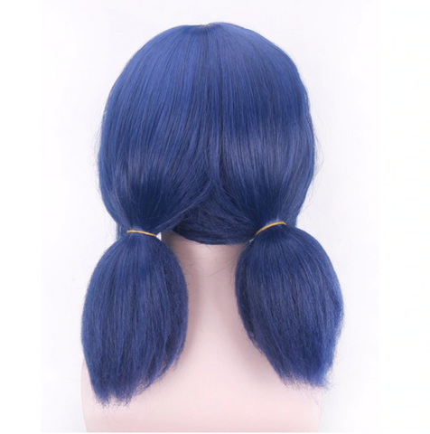 Image of Miraculous Ladybug Wigs Cosplay Short Straight Blue Hair