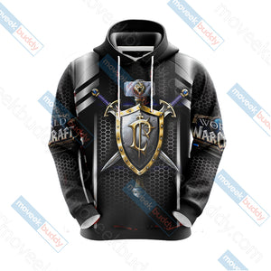 World Of Warcraft - For the Alliance New Look Unisex 3D Hoodie