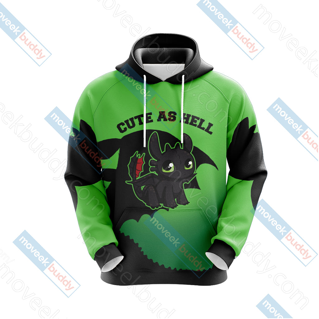 How To Train Your Dragon - Toothless Unisex 3D Hoodie
