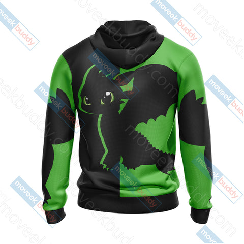 Image of How To Train Your Dragon - Toothless Unisex Zip Up Hoodie Jacket