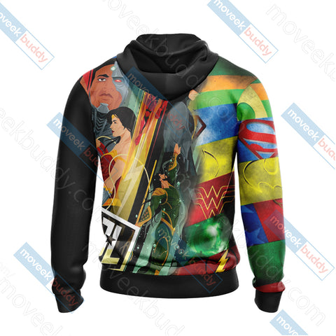 Image of Justice League New Collection Unisex Zip Up Hoodie Jacket