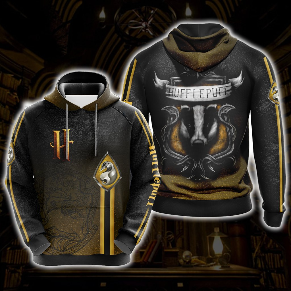 Harry Potter - Loyal Like A Hufflepuff New Look Unisex 3D Hoodie