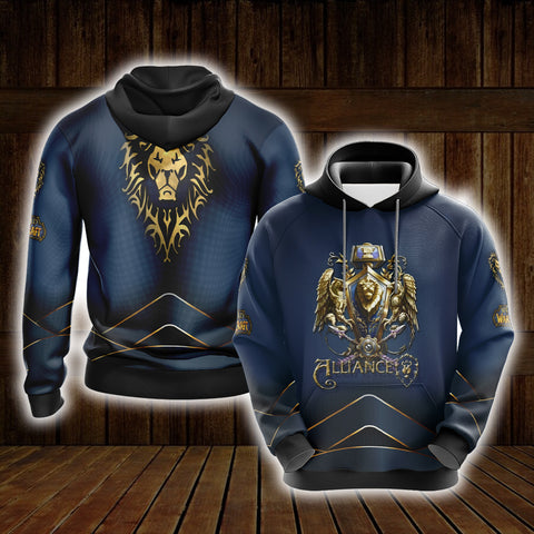 World Of Warcraft - Alliance races creste Unisex 3D Hoodie