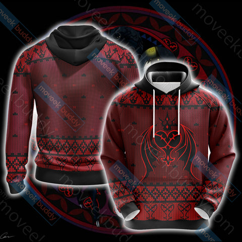Image of Kingdom Hearts - Heartless Symbol Knitting Style Unisex 3D Hoodie