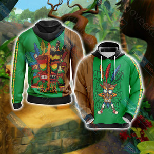 Crash Bandicoot New Unisex 3D Hoodie