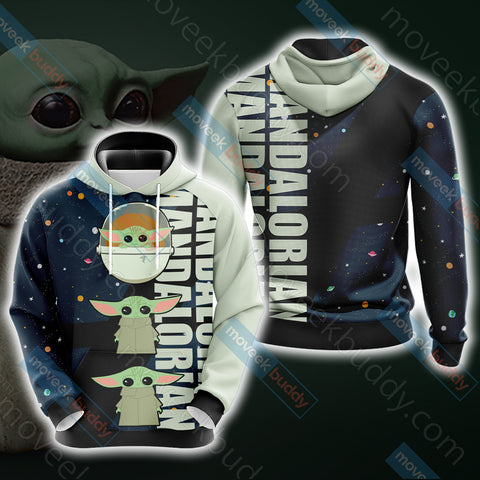 Image of Star Wars - The Mandalorian The Child Cartoon Unisex 3D Hoodie
