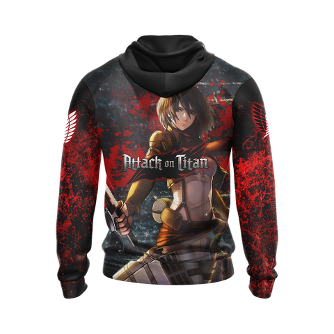 Image of Attack on Titan - Mikasa Ackerman New Unisex 3D Hoodie