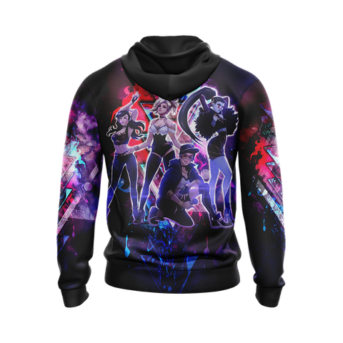 Image of K/DA Band x Overwatch Female Characters Unisex 3D Hoodie