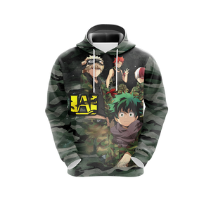 My Hero Academia in Military Uniform Unisex 3D Hoodie