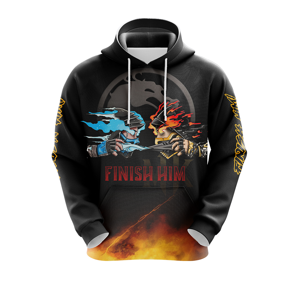 Mortal Kombat Scorpio And Sub Zero Finish Him Unisex 3D Hoodie