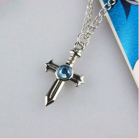 Image of Fairy Tail Gray Fullbuster Cosplay Cross Necklace