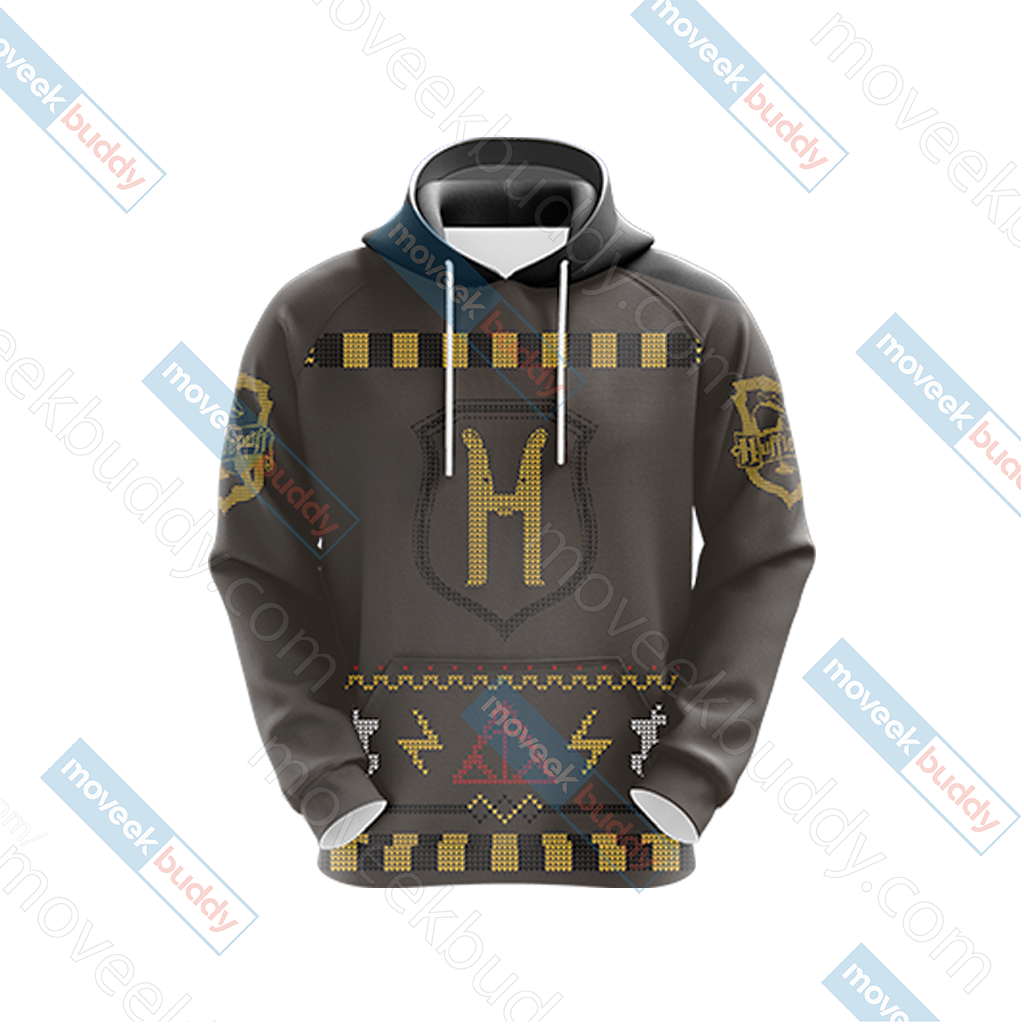 Harry Potter Loyal Like A Hufflepuff Winter Style Unisex 3D Hoodie