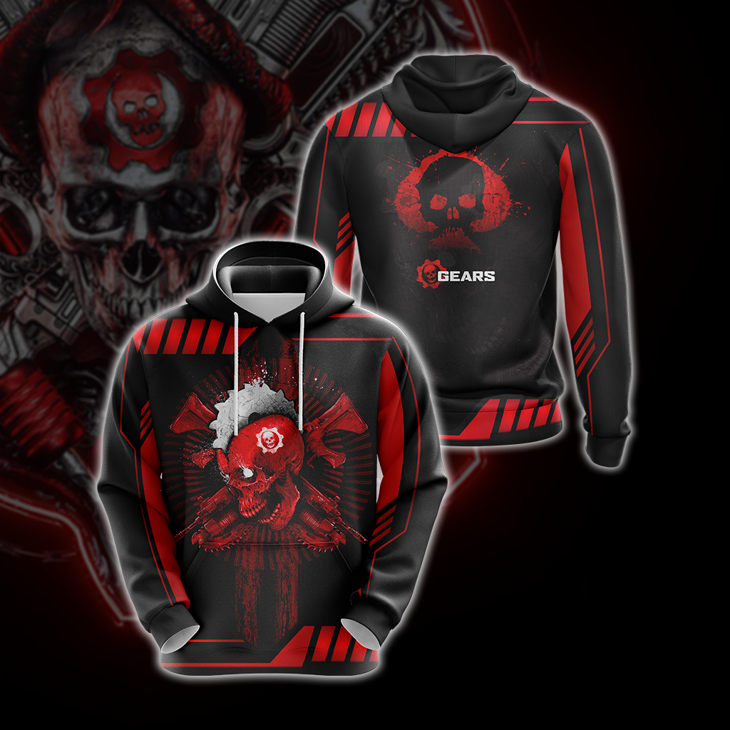 Gears Of War Red Unisex 3D Hoodie