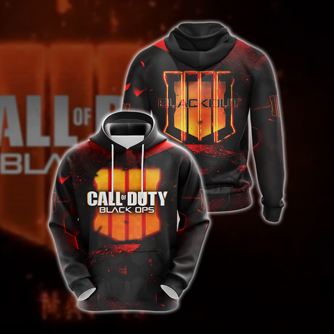 Image of Call of Duty - Black Ops 4 New Version Unisex 3D Hoodie