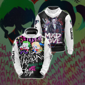 Suicide Squad Harley Quinn And Joker Unisex 3D Hoodie