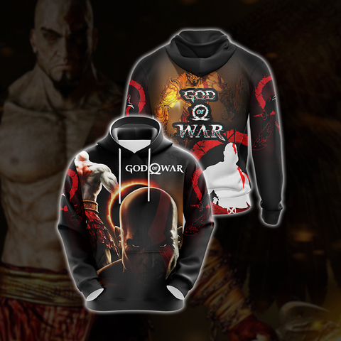 God Of War Character Unisex 3D Hoodie