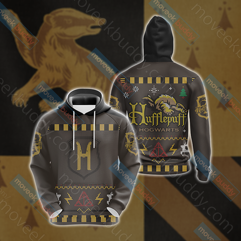 Image of Harry Potter Loyal Like A Hufflepuff Winter Style Unisex 3D Hoodie