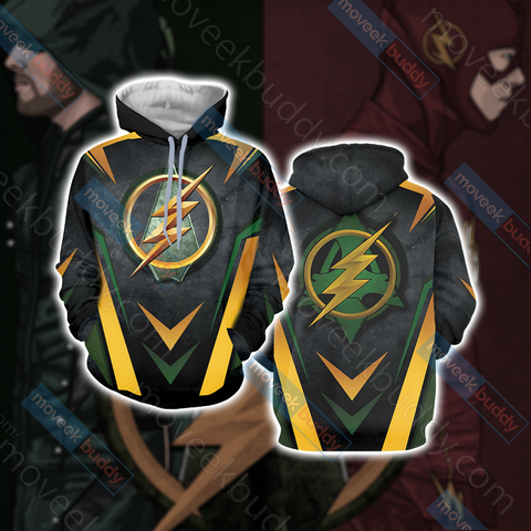 Arrow and Flash New Version Unisex 3D Hoodie