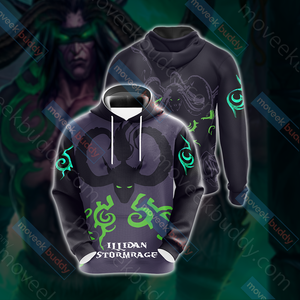 World Of Warcraft - Illidan Stormrage Unisex 3D Hoodie