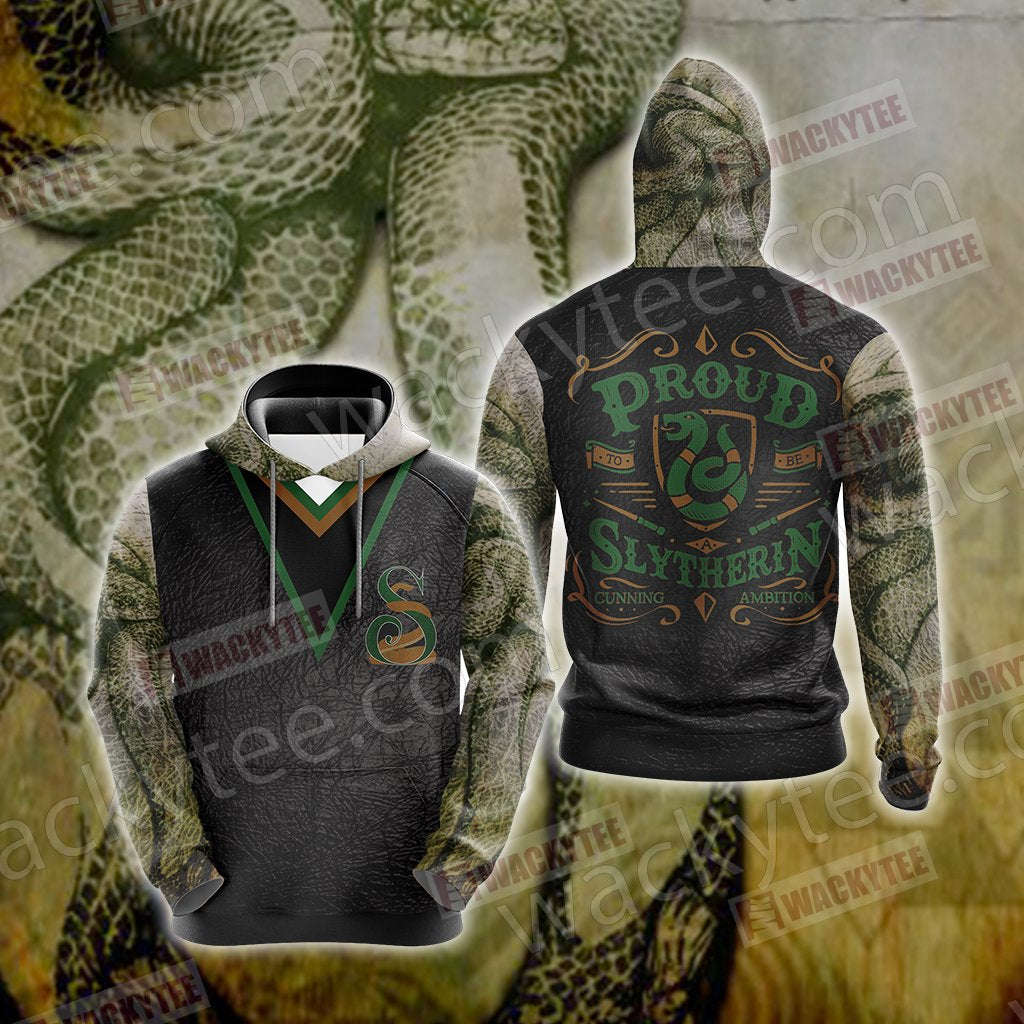 Harry Potter - Proud Slytherin Unisex 3D Hoodie