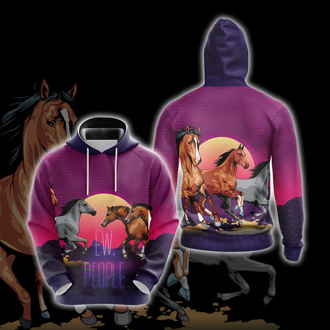 Image of Horse Ew People Unisex 3D Hoodie