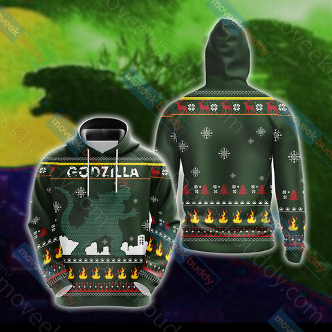 Image of Godzilla King Of The Monsters Knitting Style Unisex 3D Hoodie