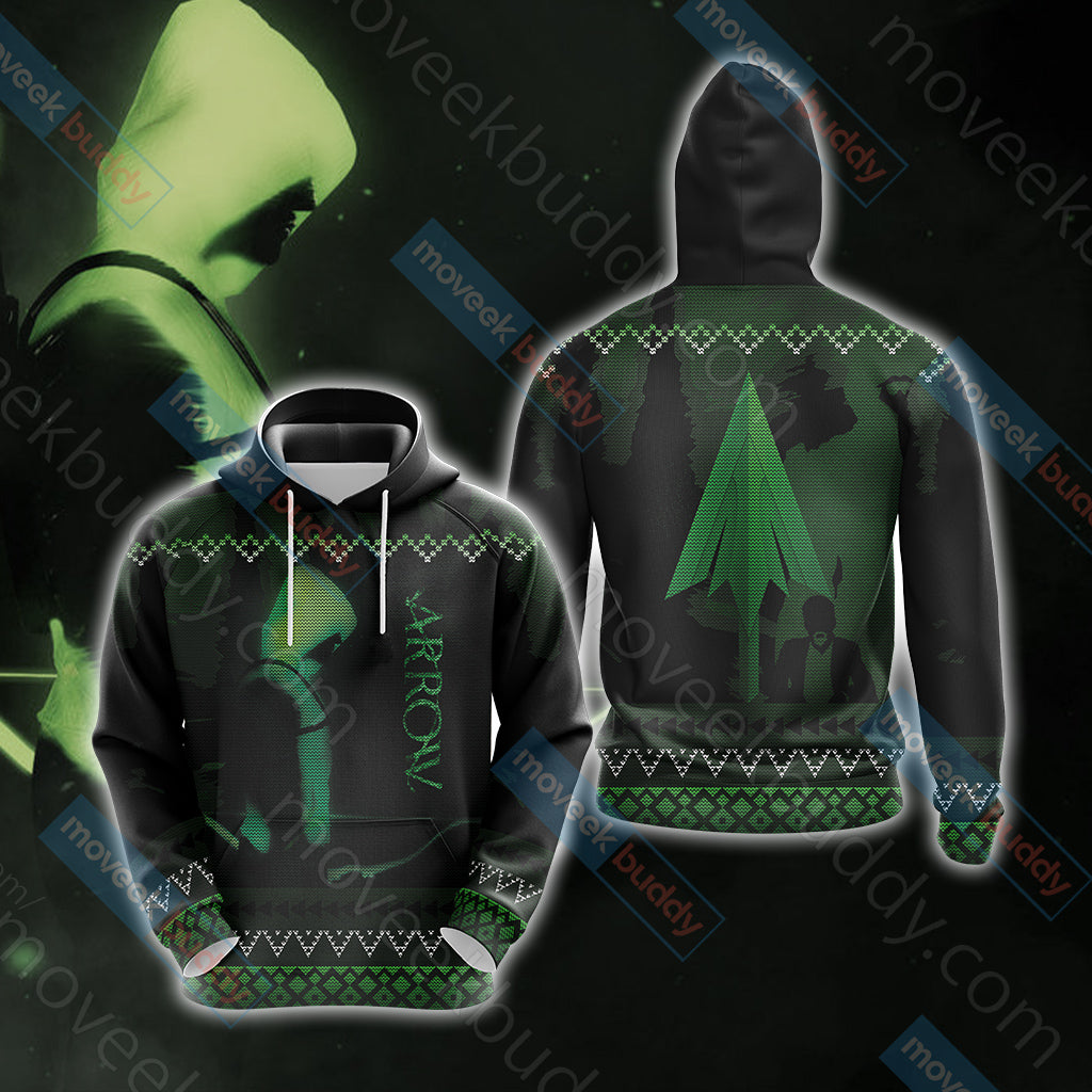 Arrow Knitting Style Unisex 3D Hoodie