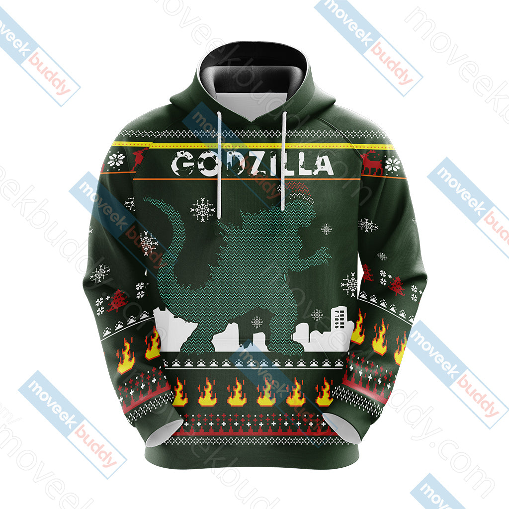 Godzilla King Of The Monsters Knitting Style Unisex 3D Hoodie