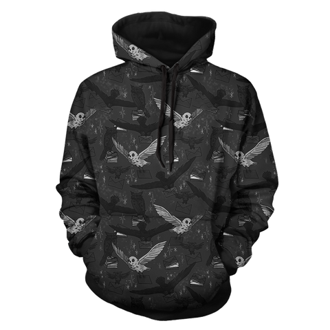 Image of Hedwig Owl Seamless Harry Potter 3D Hoodie